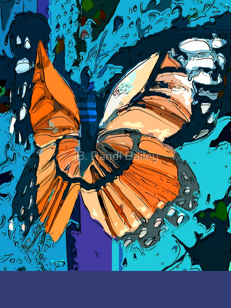 Orange butterfly graphic by rbb2676