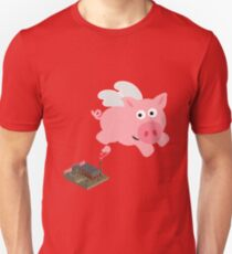 Pig out of slaughterhouse Unisex T-Shirt