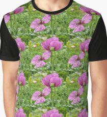 Violet Poppies / Purple Poppies (Mohnblumen) Graphic T-Shirt