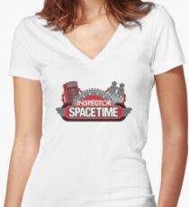 Inspector Spacetime Blorgon Edition Women's Fitted V-Neck T-Shirt