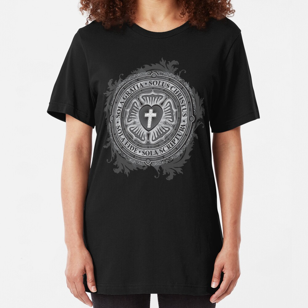 Luther Rose Christian Luther Seal Slim Fit T-Shirt