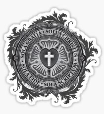 Luther Rose Christian Luther Seal Sticker