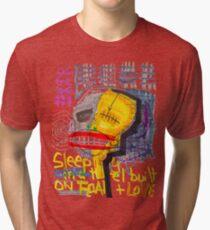 Sleeping in a Hotel Built on Fear & Love Tri-blend T-Shirt