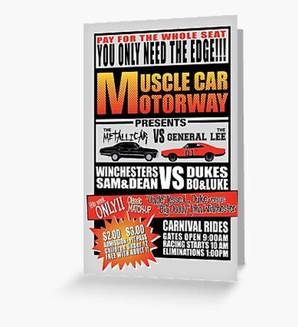 MuscleCar Motorway - Winchesters Vs Dukes Greeting Card