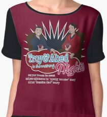 Troy and Abed in the Morning... NIGHTS! Women's Chiffon Top