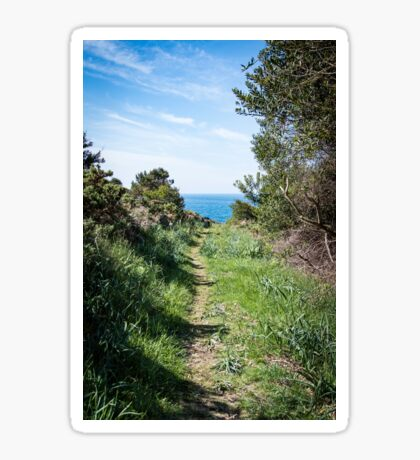 Footpath to the coast Sticker