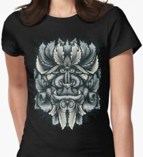 Filigree Leaves Forest Creature Beast Variant Womens Fitted T-Shirt