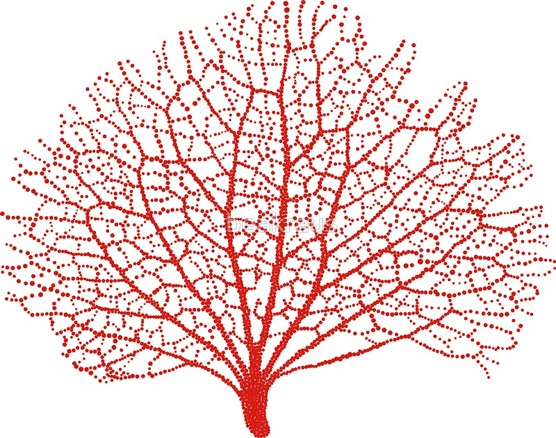 """red sea fan coral silhouette"" Stickers by beakraus ..."