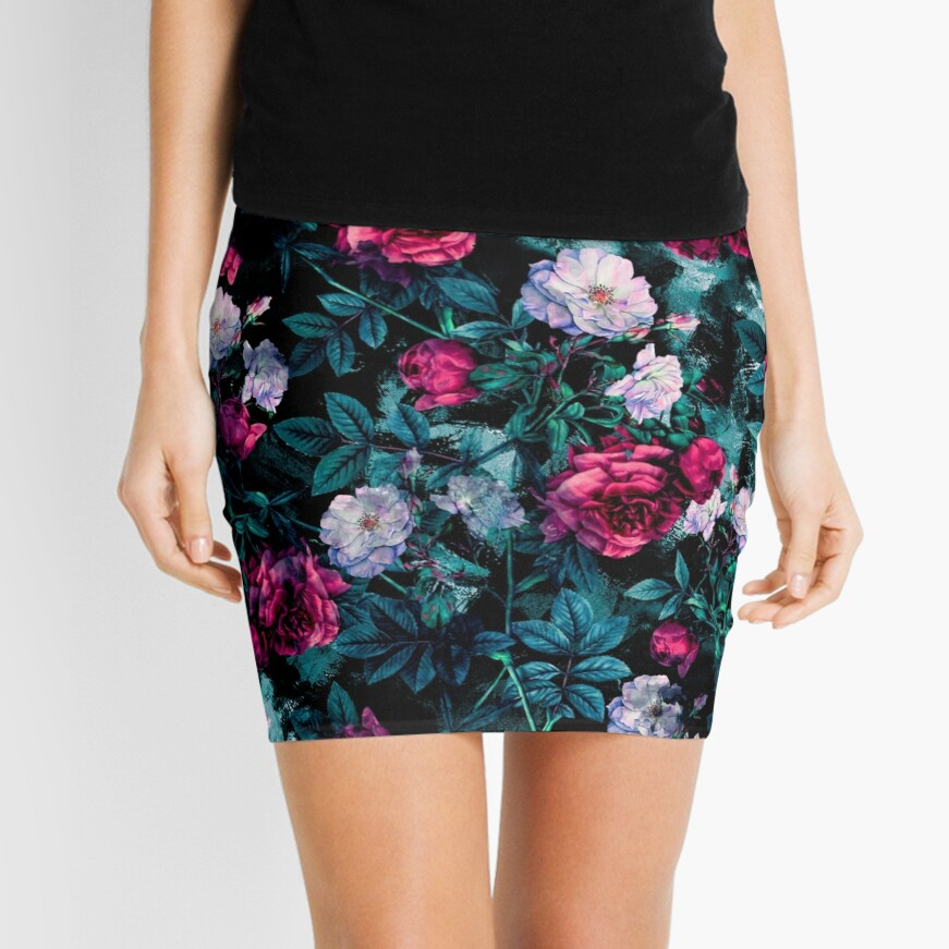 RPE FLORAL ABSTRACT III Mini Skirt