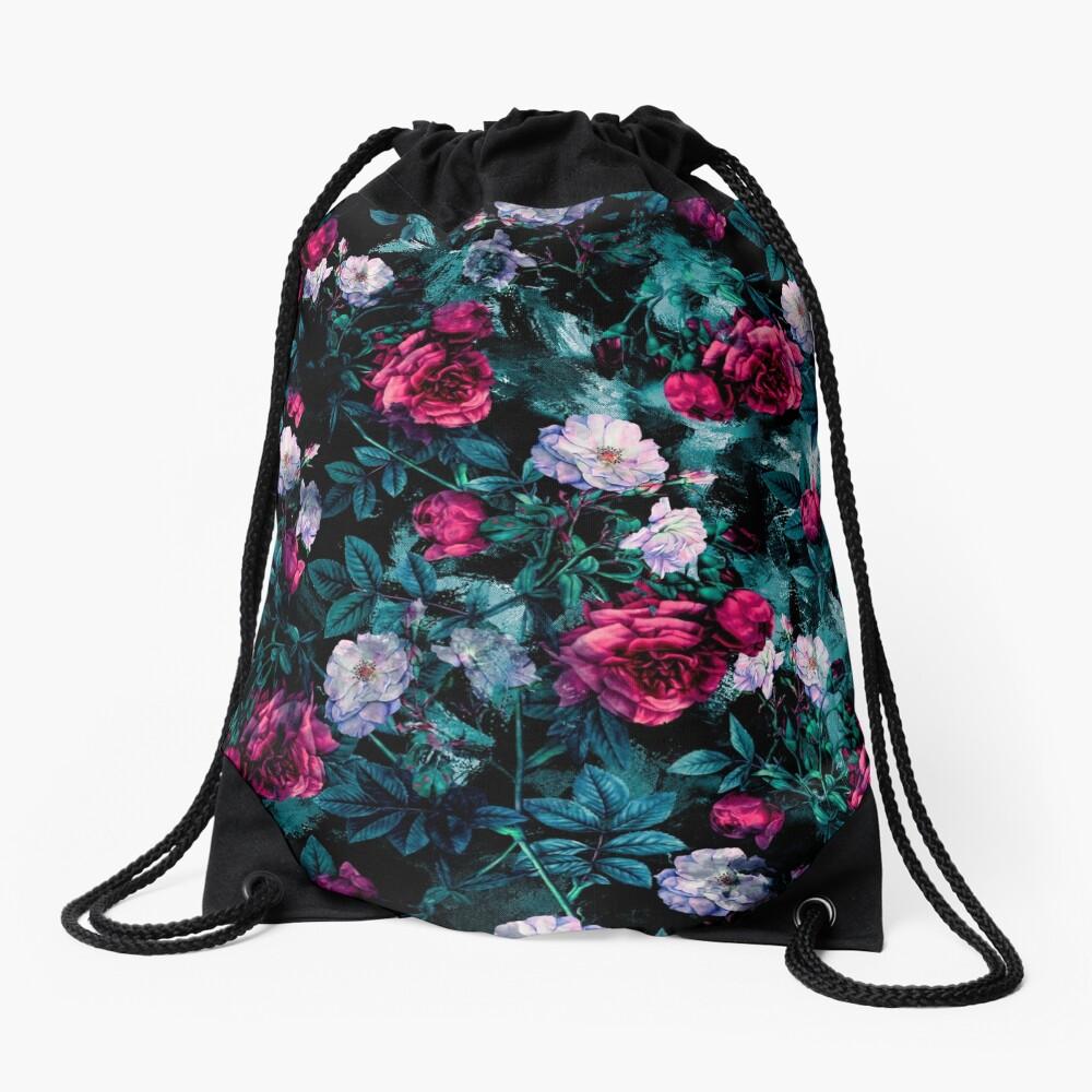 RPE FLORAL ABSTRACT III Drawstring Bag