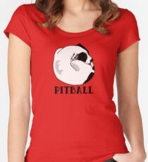 A Tiny Big Dog - Love for Pitballs.  Women's Fitted Scoop T-Shirt