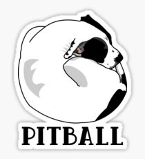 A Tiny Big Dog - Love for Pitballs.  Sticker