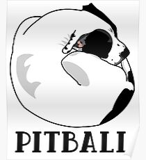 A Tiny Big Dog - Love for Pitballs.  Poster