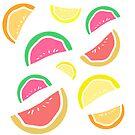 Lots of fruit sticker sheet by kissmyartichoke