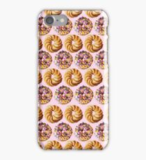 Sprinkle donuts and honey crullers on a pink background iPhone Case/Skin