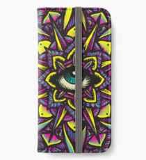 Dharma Wheel Neon Mandala iPhone Wallet/Case/Skin