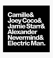 Prince Aliases Joey Coco & Jamie Starr Threads Photographic Print