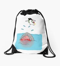Jetpack Penguin Drawstring Bag