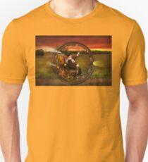 Steampunk - The gentleman's monowheel Unisex T-Shirt