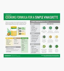 Cook Smarts' Simple Vinaigrette Cooking Formula Photographic Print