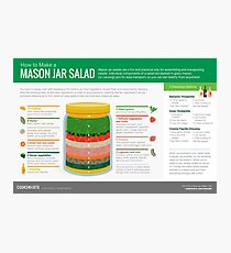 Cook Smarts' How to Make a Mason Jar Salad Photographic Print