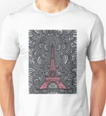 Eiffel Tower Drawing Meditation Unisex T-Shirt