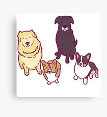 Dogs of a feather  Canvas Print