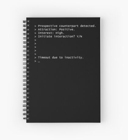 Initiate Interaction Timeout Spiral Notebook