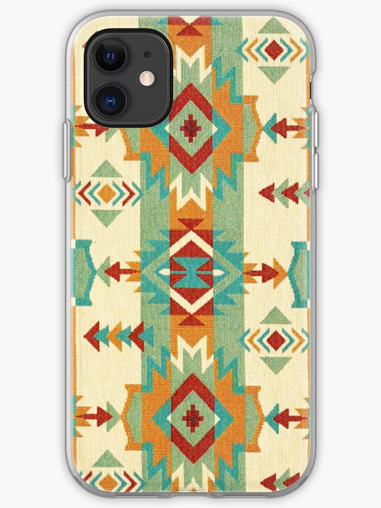 Colorful tribal pattern with geometric elements iPhone 11 case