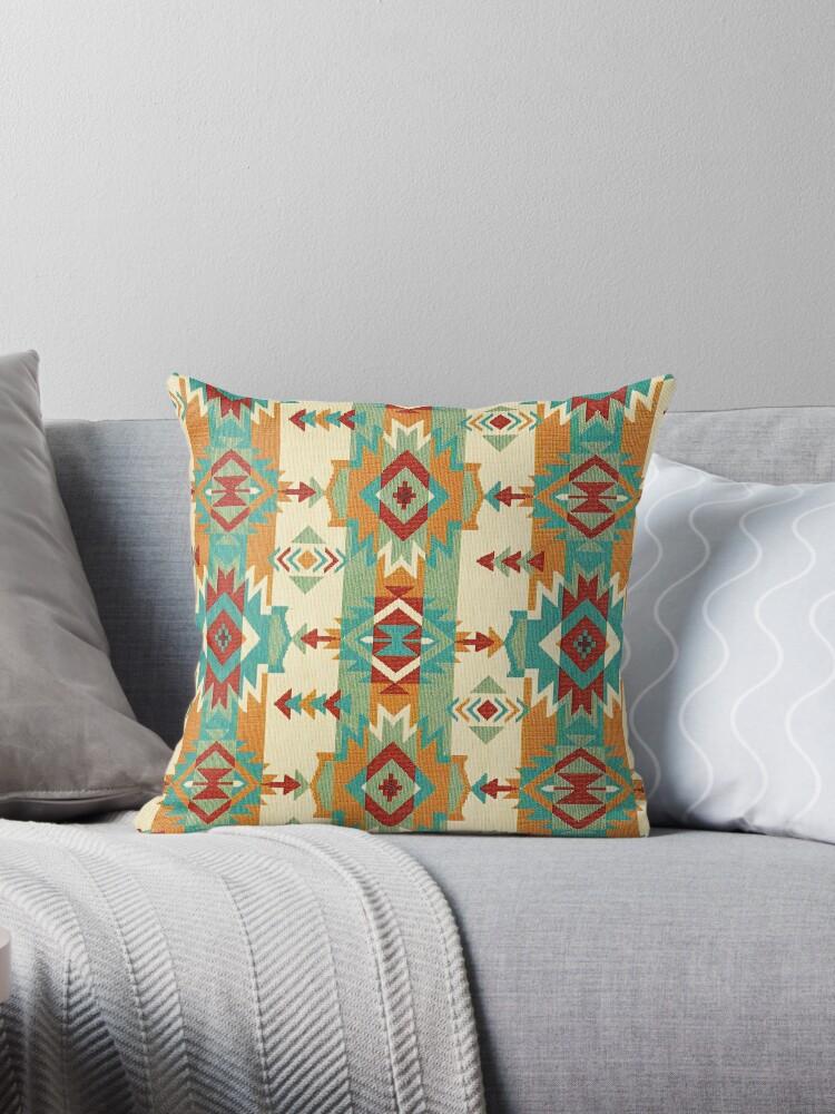 Fabric Art, Navajo Tribal, Ethnic Inspired Native American by Melody Koert