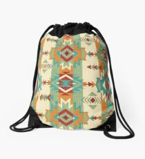 Fabric Art, Navajo Tribal, Ethnic Inspired Native American Drawstring Bag