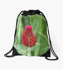 Flowers of the crimson clover, Trifolium incarnatum Drawstring Bag