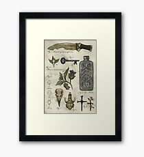 (Super)natural History - Hunter's artefacts Framed Print