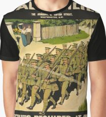 Vintage poster - British Military Graphic T-Shirt