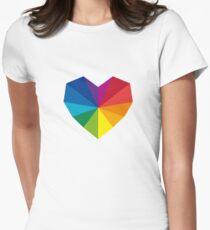 colorful geometric heart T-Shirt