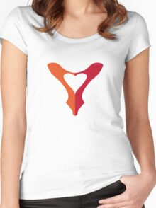shoe love, red shoe heart Women's Fitted Scoop T-Shirt