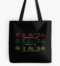 BTTF - Back To The Future - Time Travel Display Dashboard Tote Bag