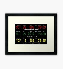 BTTF - Back To The Future - Time Travel Display Dashboard Framed Print