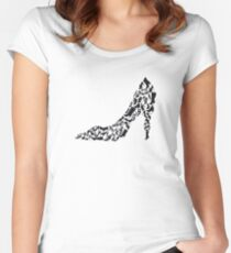 Stiletto with different shoe silhouettes Women's Fitted Scoop T-Shirt