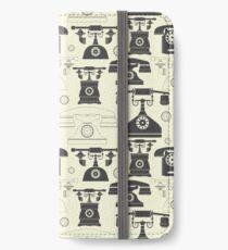 Vintage phones iPhone Wallet
