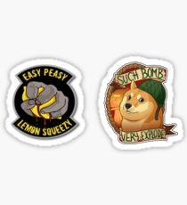 CSGO Bomb Doge & Easy Peasy Sticker