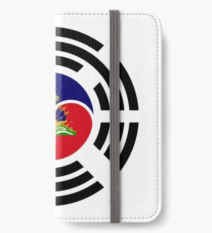 Korean Haitian Multinational Patriot Flag Series iPhone Wallet