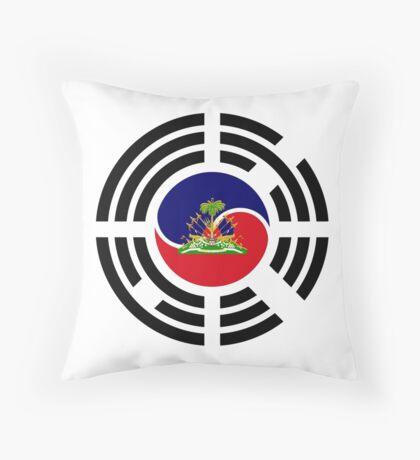 Korean Haitian Multinational Patriot Flag Series Throw Pillow