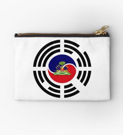 Korean Haitian Multinational Patriot Flag Series Zipper Pouch