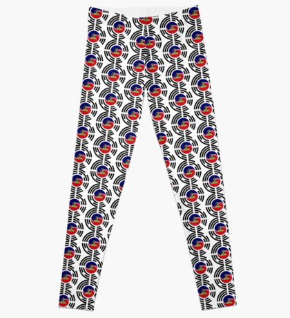 Korean Haitian Multinational Patriot Flag Series Leggings