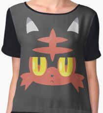 Fire Cat Monster Chiffon Top
