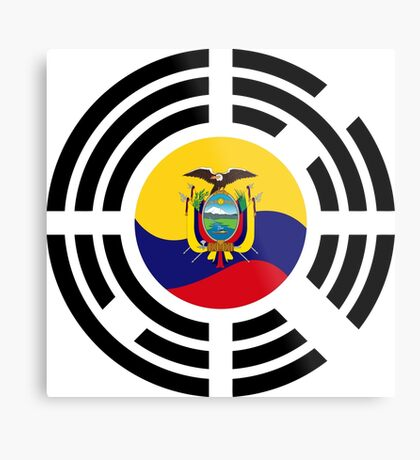 Korean Ecuadorian Multinational Patriot Flag Series Metal Print