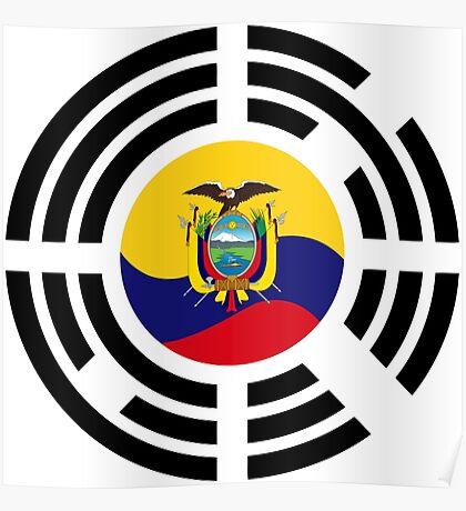 Korean Ecuadorian Multinational Patriot Flag Series Poster