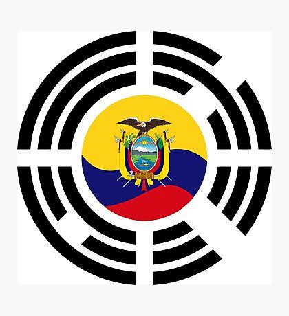 Korean Ecuadorian Multinational Patriot Flag Series Photographic Print