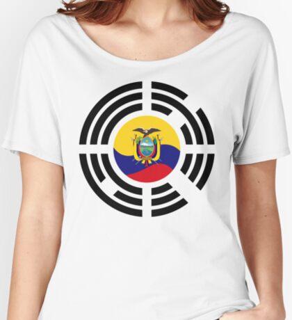 Korean Ecuadorian Multinational Patriot Flag Series Relaxed Fit T-Shirt